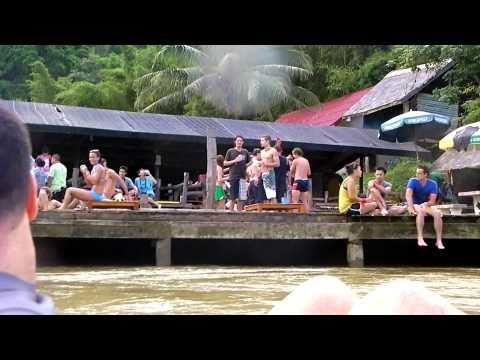 crazy!! tubing in Vang Vieng Laos Backpackers In Laos