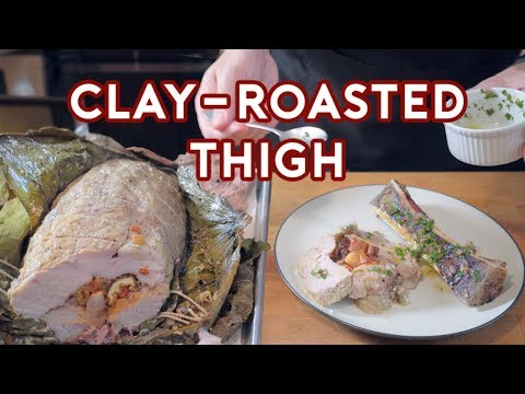 Binging with Babish Clay Roasted Thigh from Hannibal feat. You Suck at Cooking