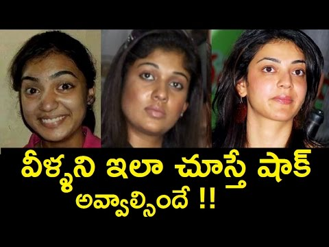 Shocked!! Tollywood Heroines without Makeup  | Telugu Celebrity unseen Private Photos!
