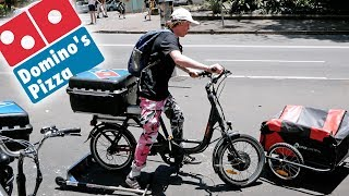 STEALING A PIZZA DELIVERY BIKE!