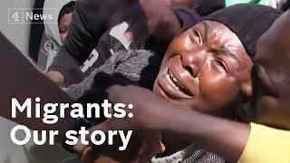 Rescued African migrants say they are fleeing slavery