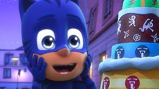 PJ Masks en Español - Gatuno y el gran rescate de la tarta de cumpleaños - Dibujos Animados