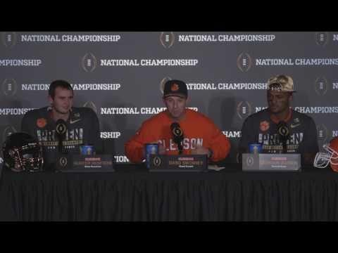 Dabo Swinney Deshaun Watson and Hunter Renfrow speak following Clemson s National Championship Win