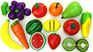 Fun Learning Names of Fruit and Vegetables with Wooden Toys Toy cutting velcro Good Education videos