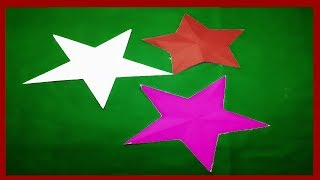 Paper Cutting Decoration-How to make paper cutting design Stars?kirigami-DIY instructions step by .