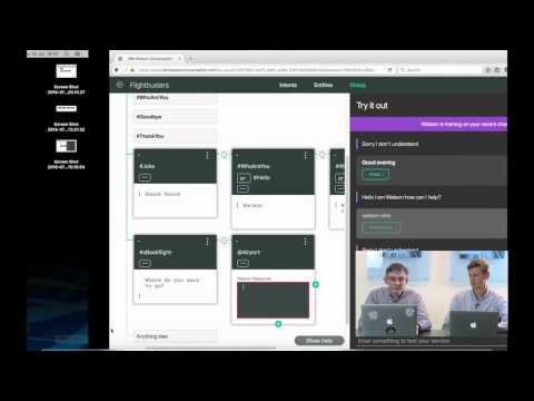 Build a bot in 6 minutes with IBM Watson Conversation (long)