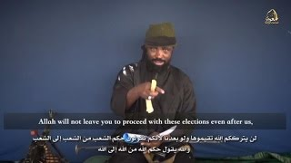 Boko Haram leader vows to disrupt Nigeria election in new video