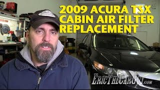 2009-2014 Acura TSX Cabin Air Filter Replacement -EricTheCarGuy