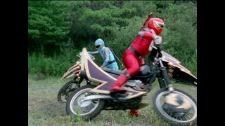 """Power Rangers Ninja Storm - Wind Rangers & The Thunder Cycles 