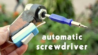 How to make Automatic Screwdriver at home - easy way
