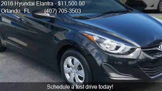 2016 Hyundai Elantra SE 6AT for sale in Orlando, FL 32807 at