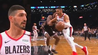 Enes Kanter MAKES THE KNICKS REGRET TRADING HIM & NEVER LETTING HIM PLAY IN BLAZERS DEBUT!