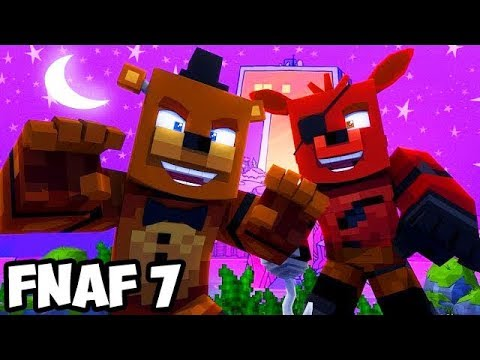 Minecraft Five Nights at Teen Titans #1! FREDDY Sister Location! FNAF Portal Mod Roleplay Animations