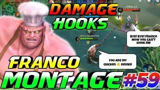 DAMAGE FRANCO HOOKS MONTAGE #59 | GamEnTrix | MOBILE LEGENDS
