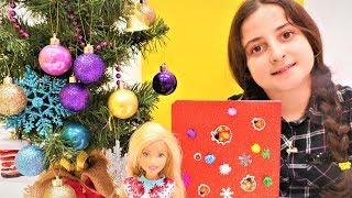 Yılbaşı video. Barbie'ye not defteri yapıyoruz!