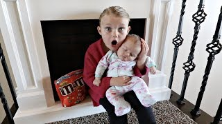 CUTE BABY STEALS M&M CANDY!! | HIDE AND SEEK!