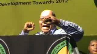 Jacob Zuma sings Umshini Wam