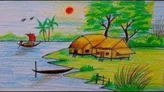 How to draw scenery of Light and shadow by color pencil Pencil Drawing Step by Step
