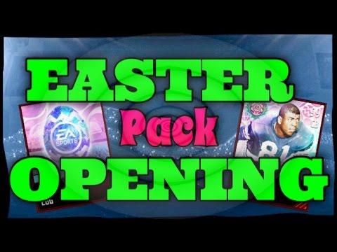 HUGE 100 Easter Pack Opening CRAZY PULLS Madden Mobile 17