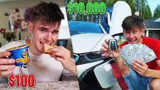 $10,000 BUDGET vs $100 BUDGET - Challenge
