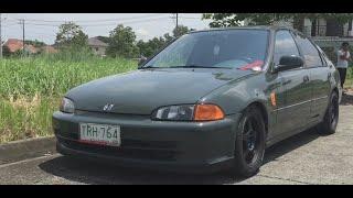 1994 Honda Civic ESI Sedan FULL REVIEW (Interior, Exterior, Engine, Exhaust)