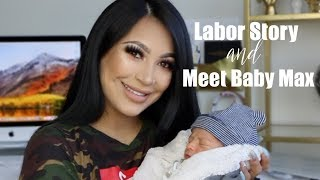 My Labor Story + Meet My Baby! || EVETTEXO