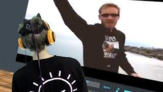 VR Chat #9 Watching Pewdiepie in VR