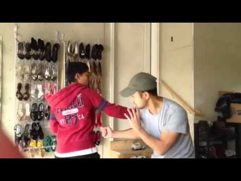 Teaching Kung Fu to my student Tristan: Action With Reactions 9/30/12