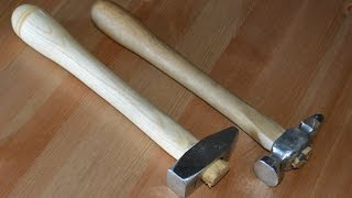 Forging two Stainless Steel Cross Peen Hammers