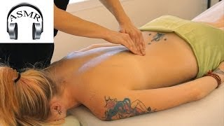 ASMR Back Massage Christen #3, Relaxing Massage Therapy Techniques