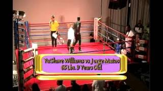 66Lbs 9yrs  Old Yu'Shore Williams vs Jorge Matos