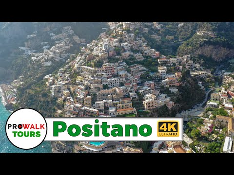 Beautiful Tour of Positano Italy in 4K