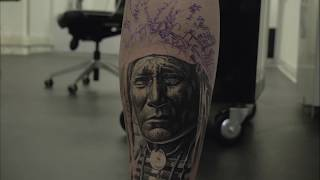 Native American Portrait TATTOO TIMELAPSE by VID BLANCO