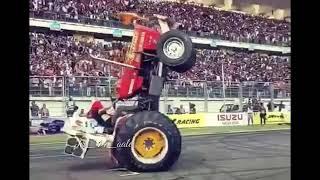 Stunt by tractor l puthe kamm l whatsapp status l punjabi l Hindi l Haryanvi l