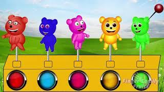 Gummy Bear Popping Balloon Colors Finger Family Nursery Rhymes for children