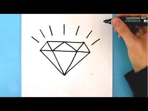 Xxx Mp4 HOW TO DRAW A DIAMOND STEP BY STEP EASY DRAWING TUTORIAL 3gp Sex