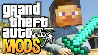 GTA 5 - MINECRAFT IN GTA 5! - Minecraft Mod for GTA 5 (GTA 5 Mods)