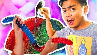 Do Not Boil A Giant Gummy Worm!