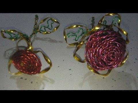 manualidades ROSA DE ALAMBRE original Rose of wire