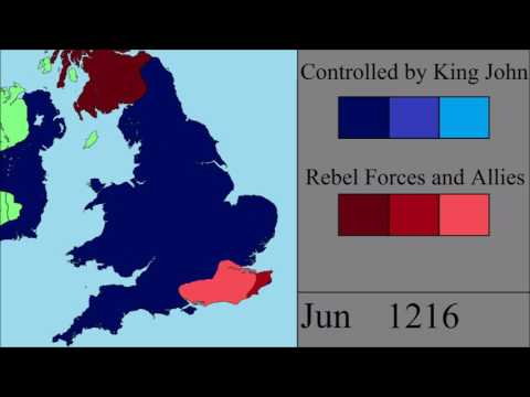 The First Barons' War: Every Month