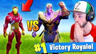 IRON MAN vs THANOS - WHO WINS...? (Fortnite: Battle Royale CHALLENGE)