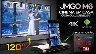 ★ Cinema em casa a qualquer hora, em qualquer lugar — JMGO M6 Projetor Portátil