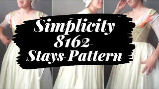 18th Century Stays from Simplicity 8162
