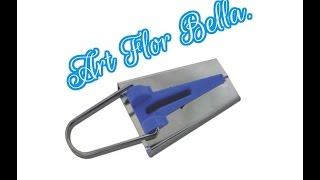 Como fazer um fazedor de viés caseiro Art Flor Bella.