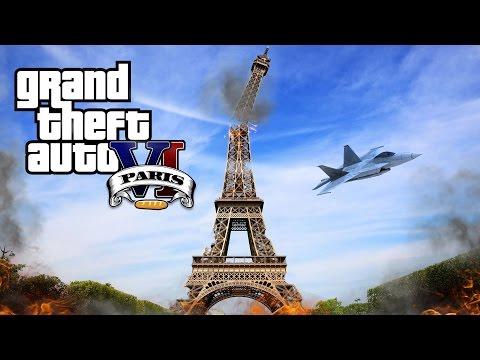 Grand Theft Auto VI Paris City Parodie GTA6
