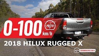 2018 Toyota HiLux Rugged X 0-100km/h & engine sound