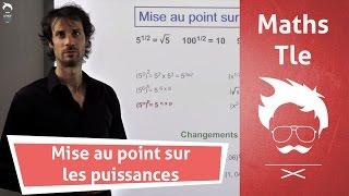 Exponentielle : comprendre les puissances - Cours de Maths - Terminale
