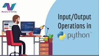Input/Output operations in Python! | python tutorial | python input | python print