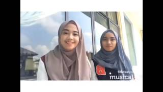 with my friend doing musical.ly