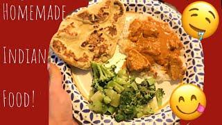 HOMEMADE INDIAN DINNER   MY FIRST RECIPE VLOG